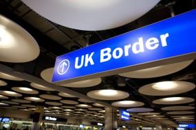 UK Border Passport Control Terminal 5 Heathrow Airport, England, United KIngdom, UK